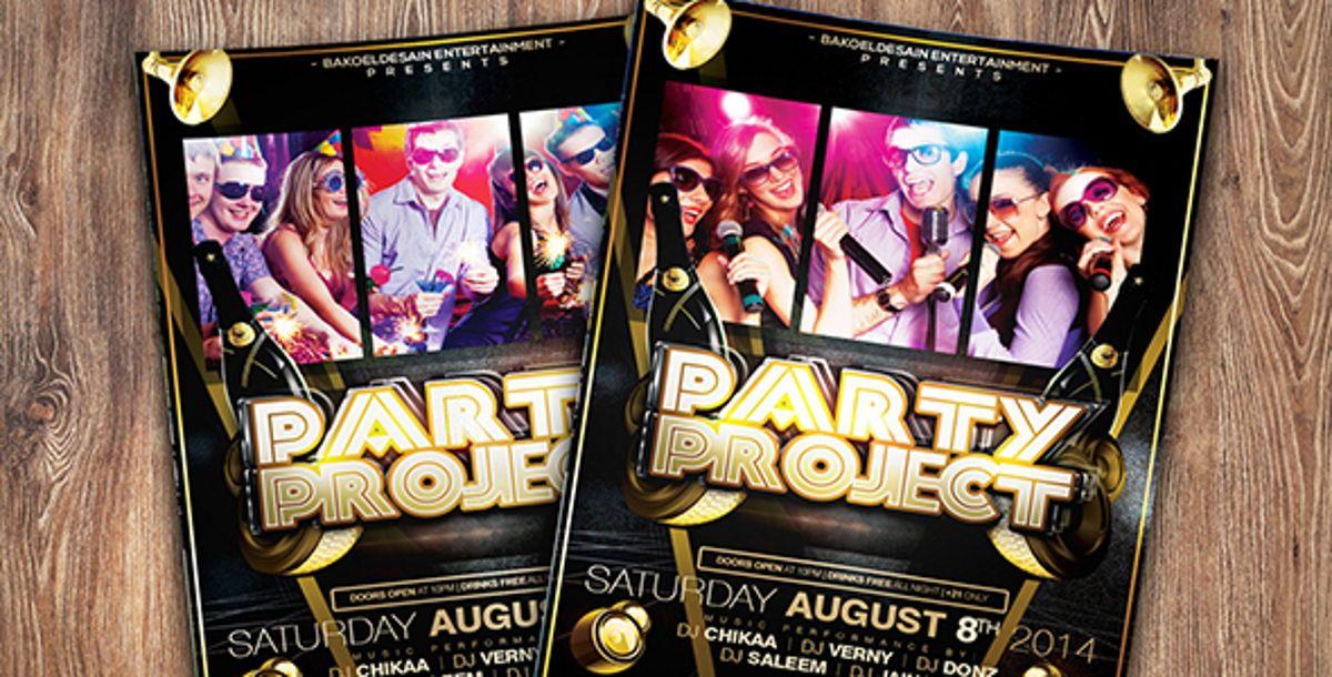 Party Project Flyer Template, Slide 4, 08625, Art & Entertainment — PoweredTemplate.com