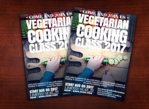 Food & Beverage: Vegetarian Cooking Class Flyer Template #08627