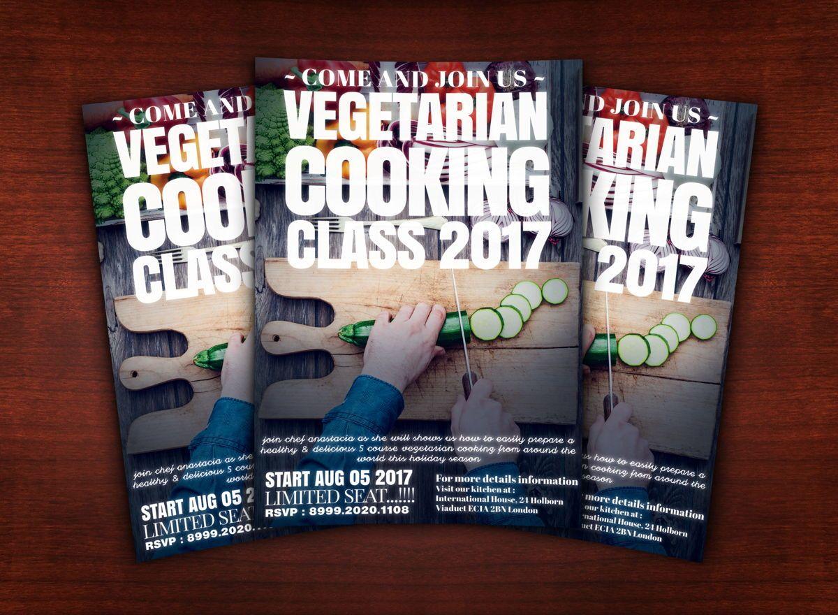 Vegetarian Cooking Class Flyer Template, Slide 2, 08627, Food & Beverage — PoweredTemplate.com