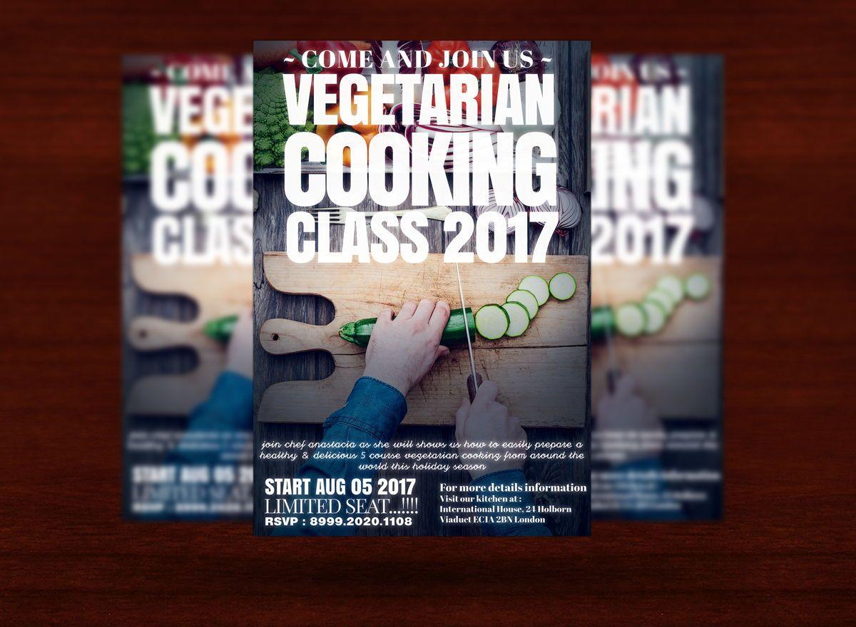 Vegetarian Cooking Class Flyer Template, Slide 3, 08627, Food & Beverage — PoweredTemplate.com