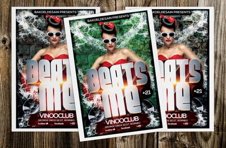 Art & Entertainment: Beats Me Party Flyer Template #08631