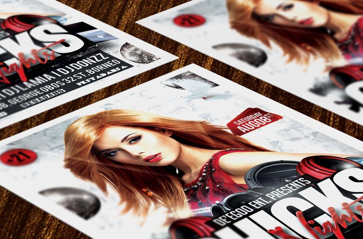 Chicks Party Flyer Template, Slide 2, 08633, Art & Entertainment — PoweredTemplate.com