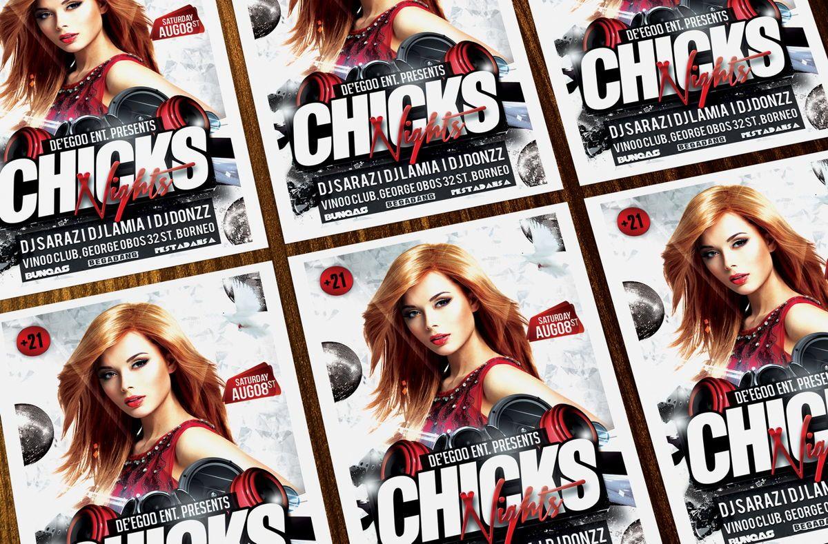 Chicks Party Flyer Template, Slide 3, 08633, Art & Entertainment — PoweredTemplate.com