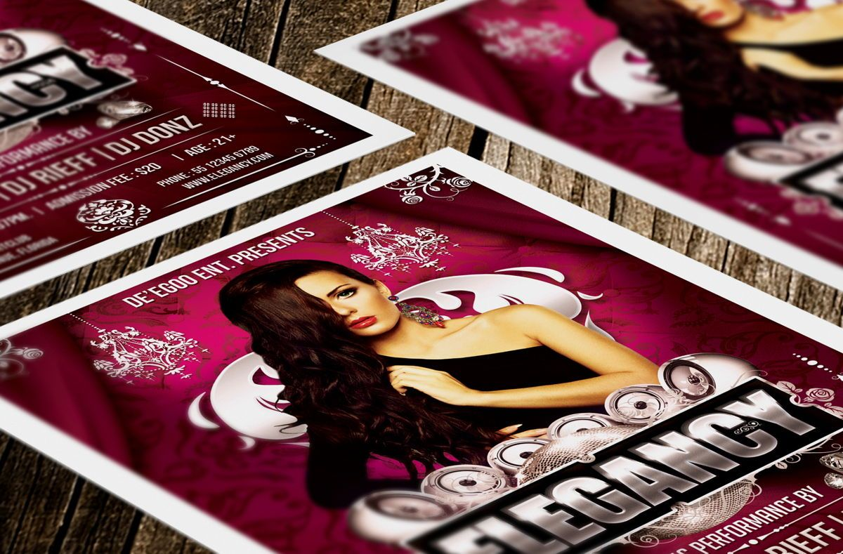 Elegancy Party Flyer Template, Slide 3, 08635, Art & Entertainment — PoweredTemplate.com
