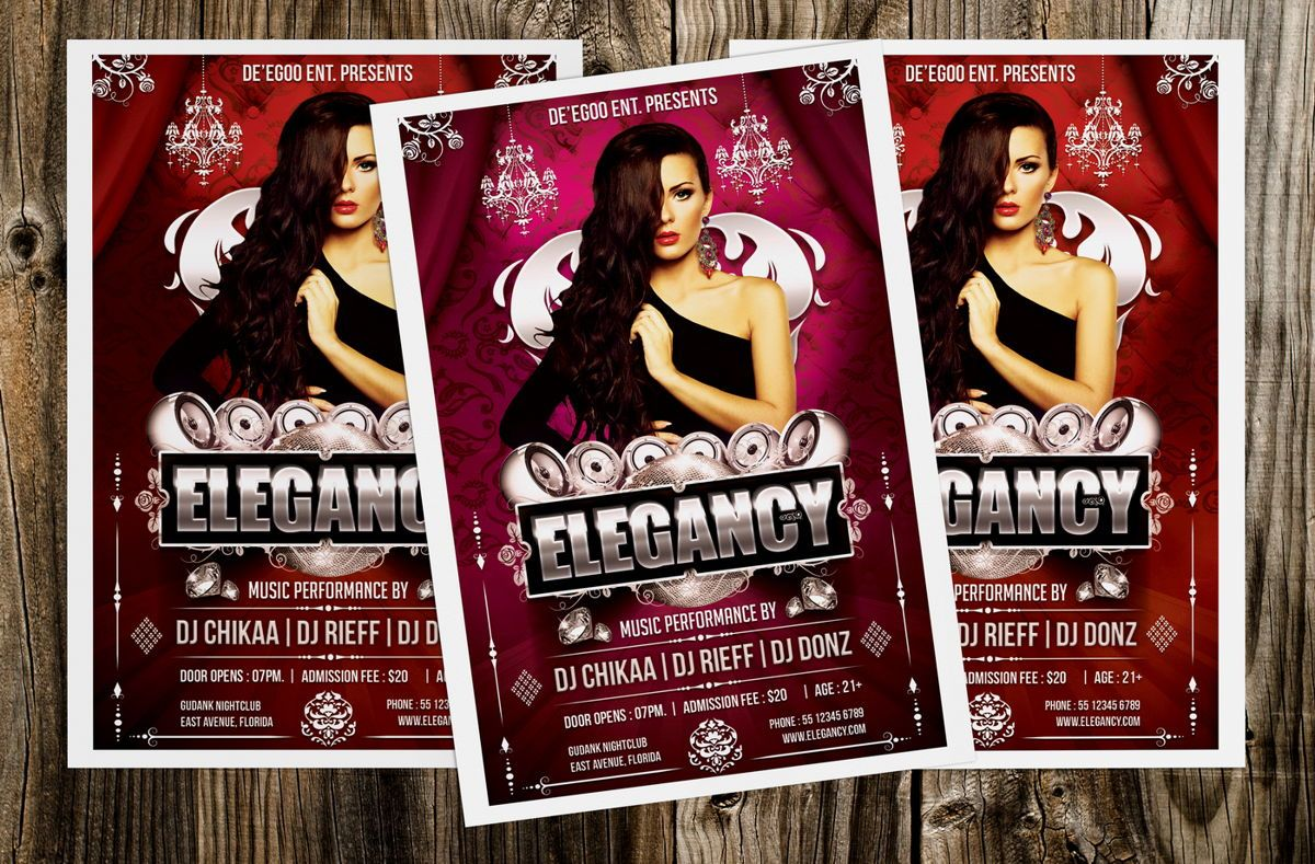Elegancy Party Flyer Template, Slide 4, 08635, Art & Entertainment — PoweredTemplate.com