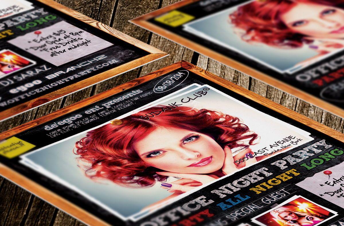 Office Night Party Flyer, 08637, Art & Entertainment — PoweredTemplate.com