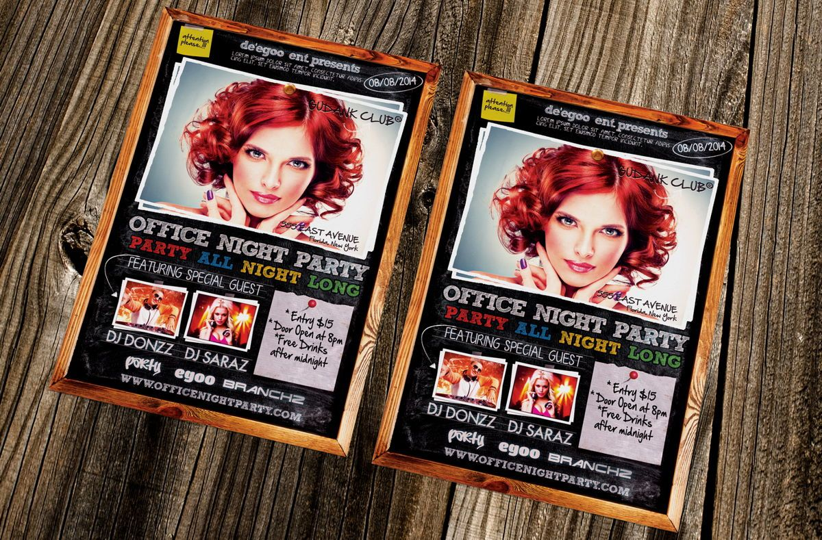 Office Night Party Flyer, Slide 2, 08637, Art & Entertainment — PoweredTemplate.com