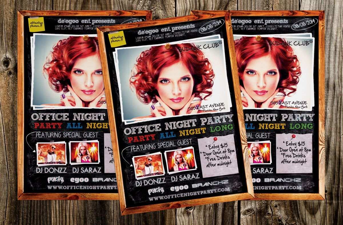 Office Night Party Flyer, Slide 3, 08637, Art & Entertainment — PoweredTemplate.com