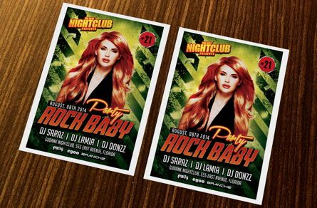 Art & Entertainment: Rock Baby Party Flyer Template #08638