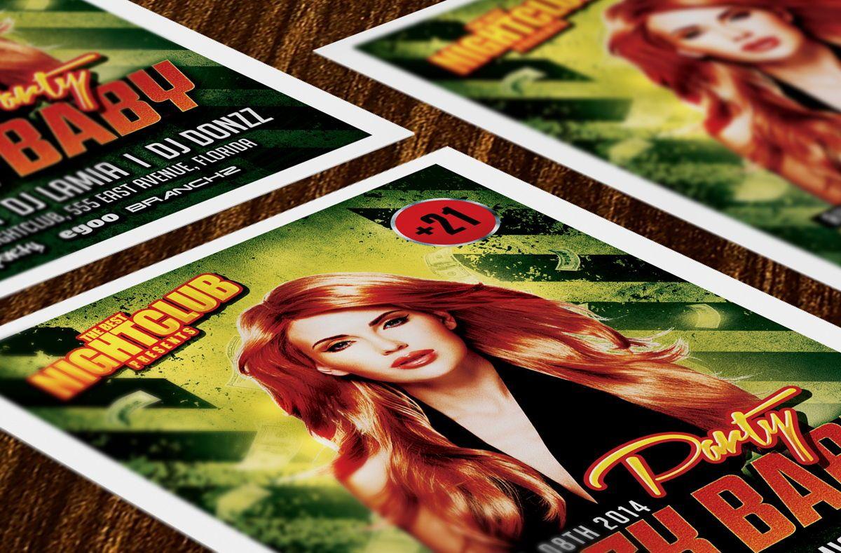 Rock Baby Party Flyer Template, Slide 3, 08638, Art & Entertainment — PoweredTemplate.com
