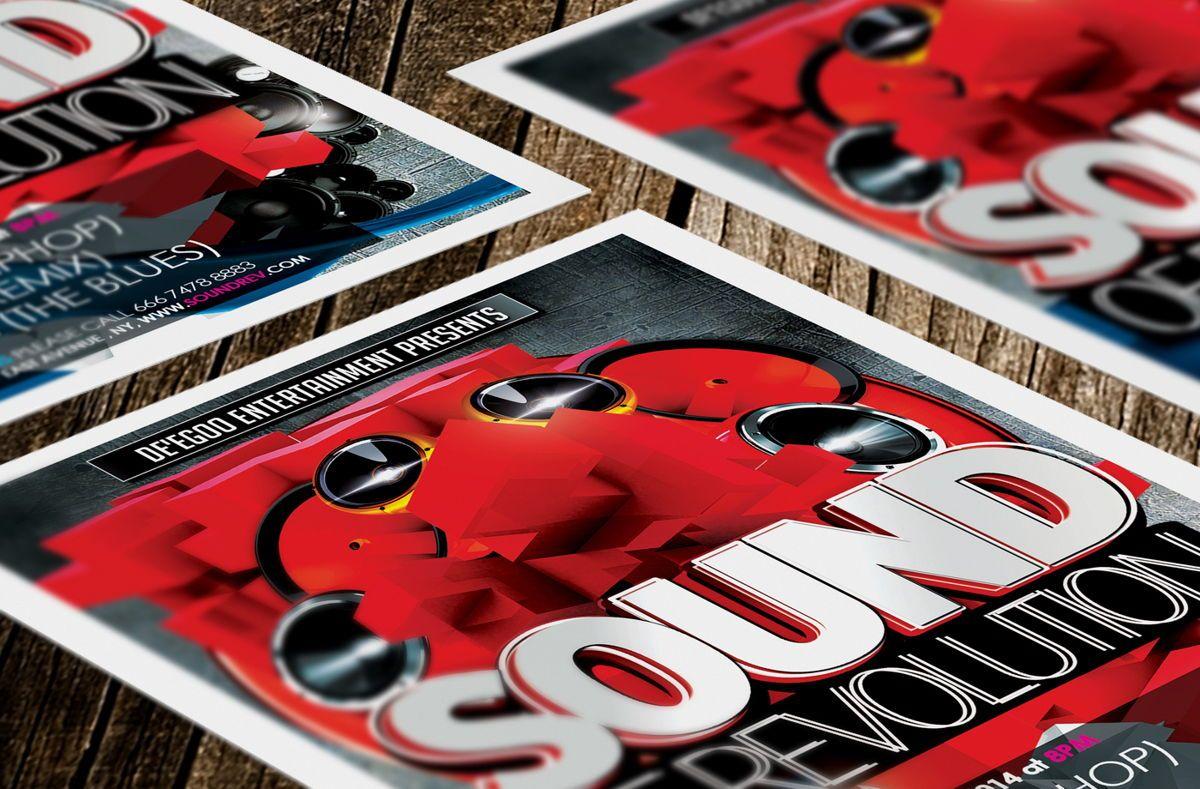 Sound of Revolution Flyer Template, Slide 2, 08639, Art & Entertainment — PoweredTemplate.com