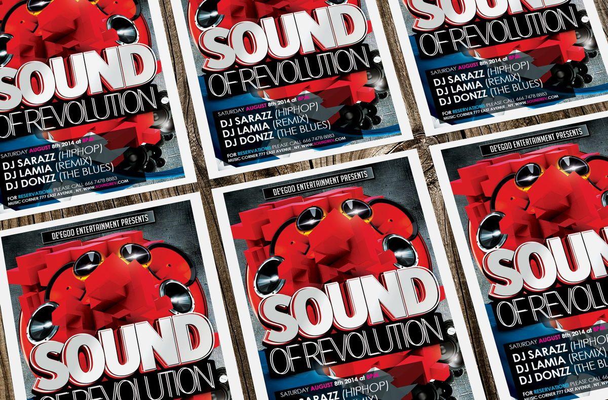 Sound of Revolution Flyer Template, Slide 3, 08639, Art & Entertainment — PoweredTemplate.com