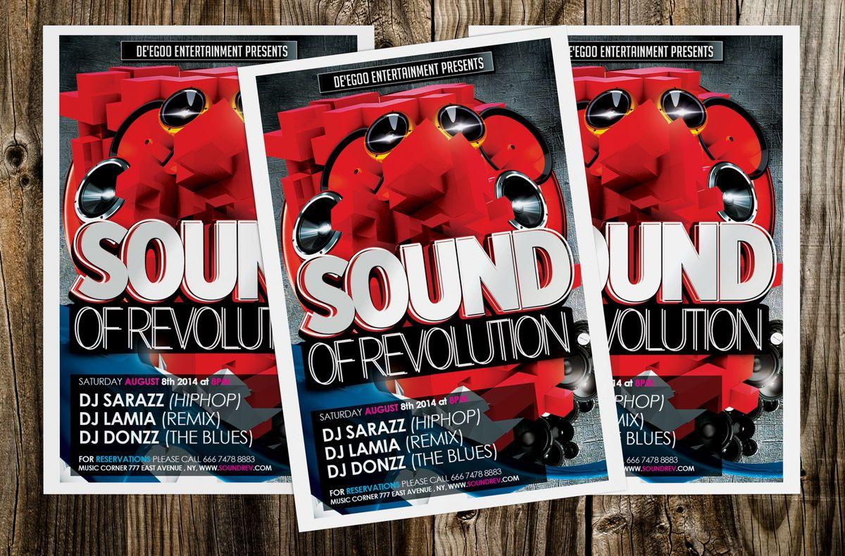 Sound of Revolution Flyer Template, Slide 4, 08639, Art & Entertainment — PoweredTemplate.com