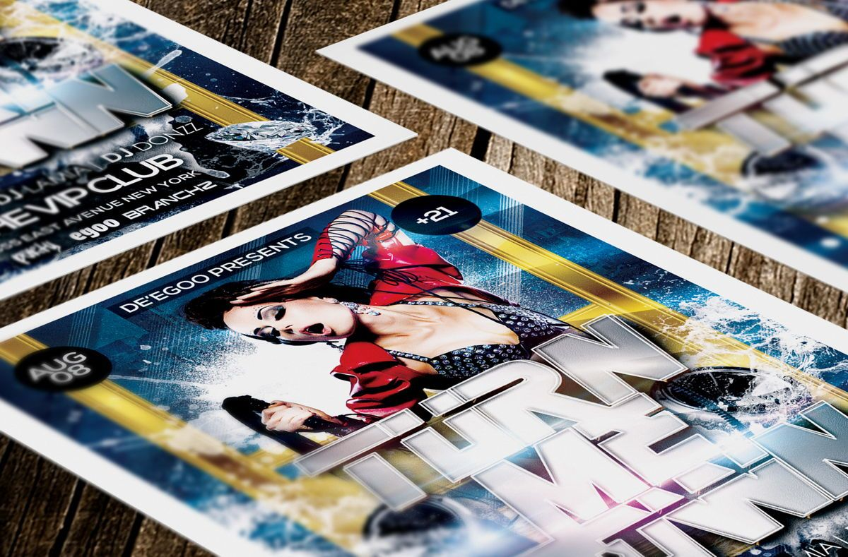Turn Me Down Party Flyer Template, Slide 3, 08641, Art & Entertainment — PoweredTemplate.com