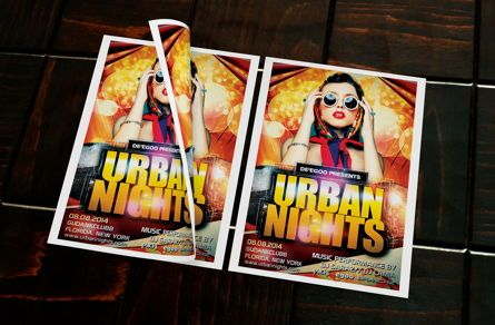 Art & Entertainment: Urban Nights Party Flyer Template #08642