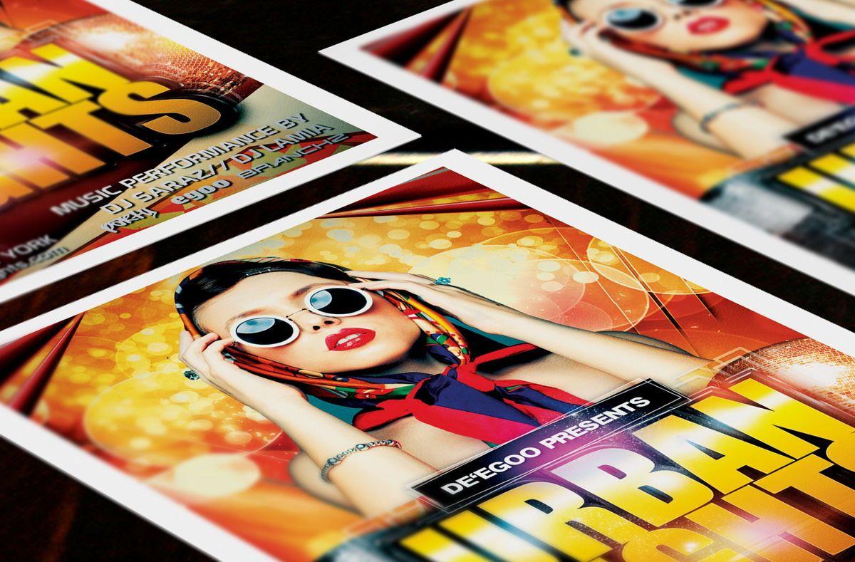 Urban Nights Party Flyer Template, Slide 3, 08642, Art & Entertainment — PoweredTemplate.com