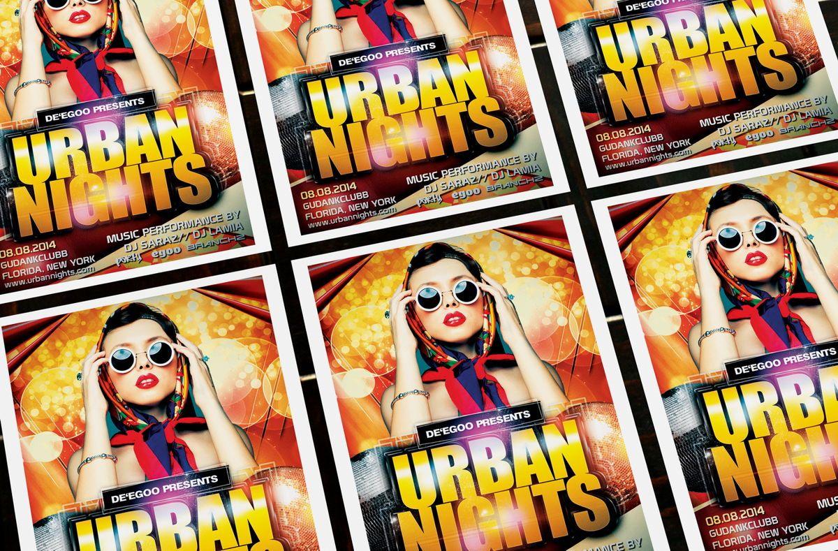 Urban Nights Party Flyer Template, Slide 4, 08642, Art & Entertainment — PoweredTemplate.com