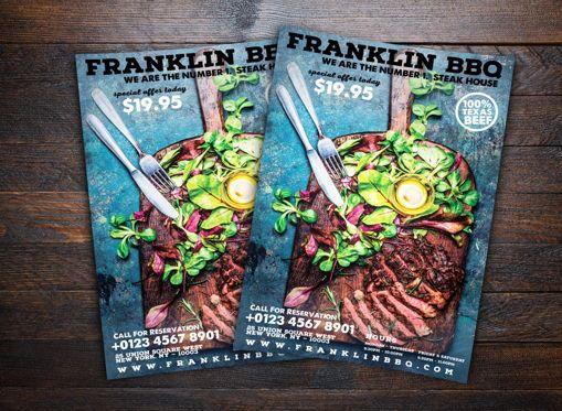 Food & Beverage: Barbeque Restaurant Flyer Template #08644