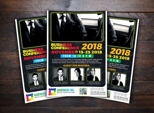 Business: Business Conference Flyer Template #08648