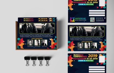 Business: Business Conference PostCard Template #08649
