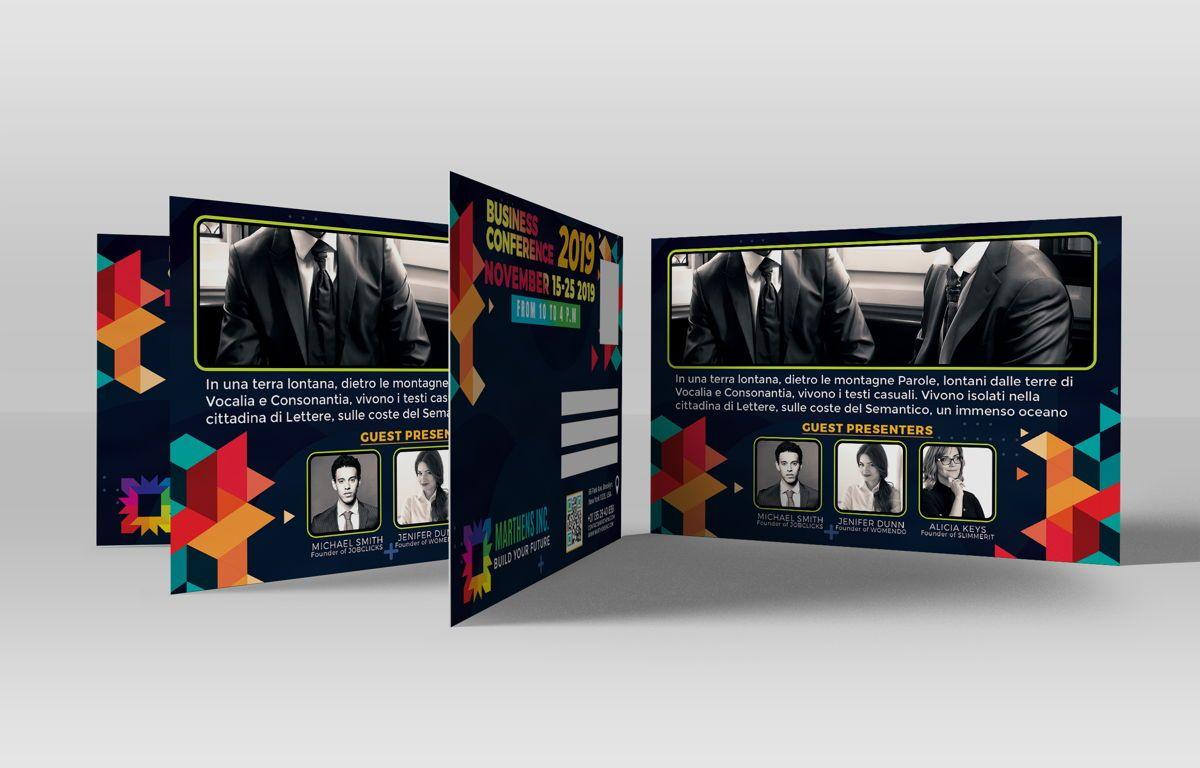 Business Conference PostCard Template, Slide 3, 08649, Business — PoweredTemplate.com