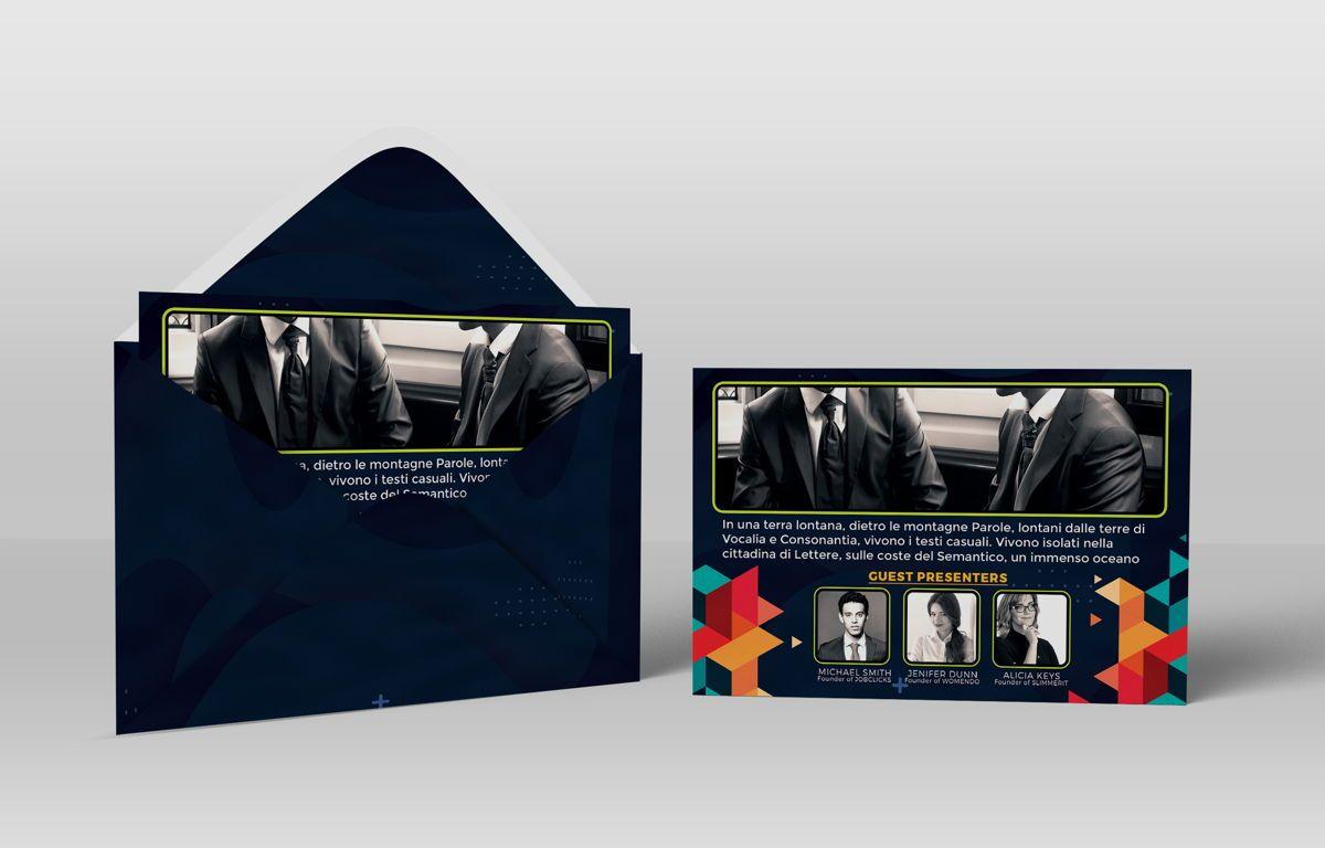 Business Conference PostCard Template, Slide 4, 08649, Business — PoweredTemplate.com