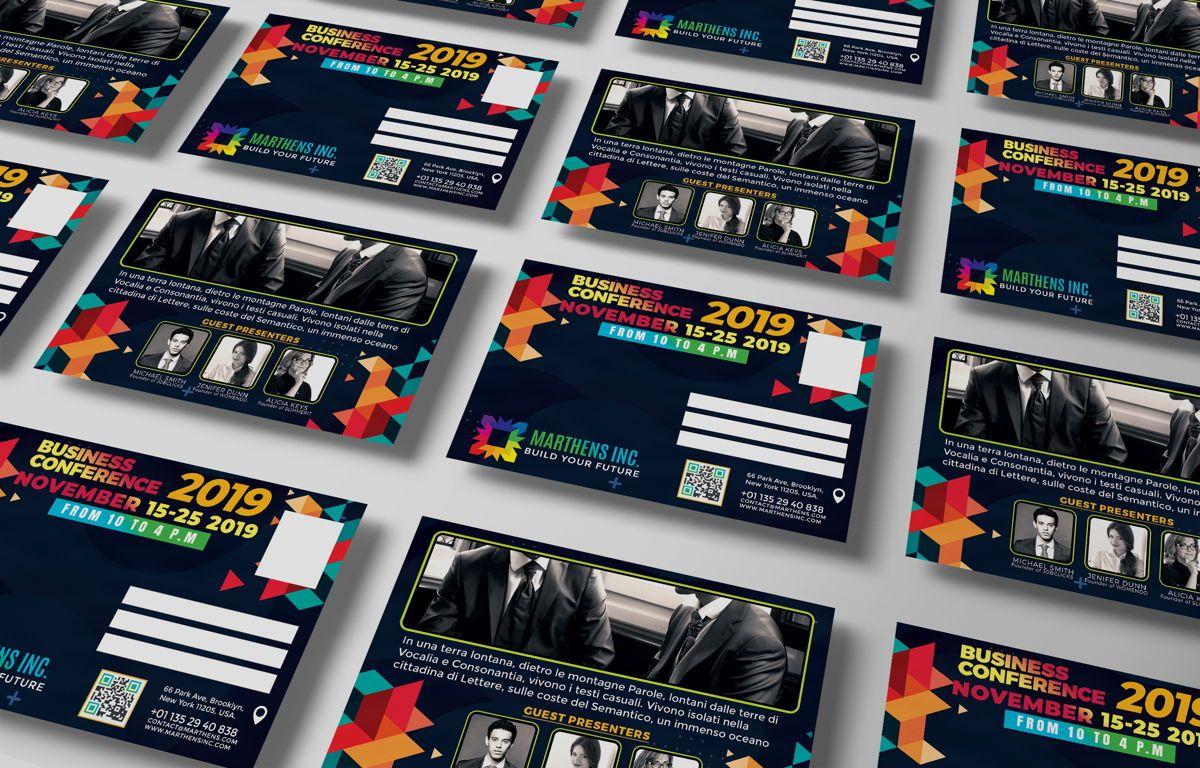 Business Conference PostCard Template, Slide 5, 08649, Business — PoweredTemplate.com