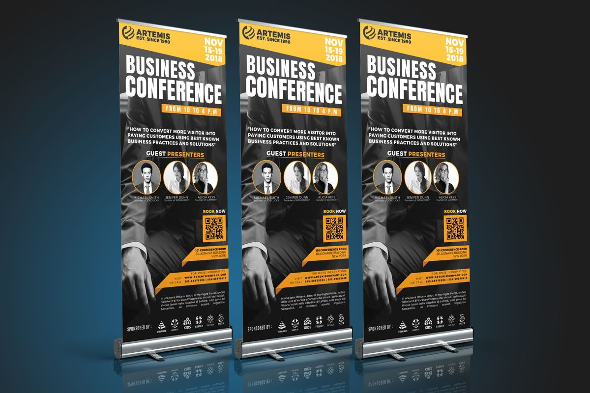 Business Conference Roll-Up Banner Template, Slide 3, 08650, Business — PoweredTemplate.com