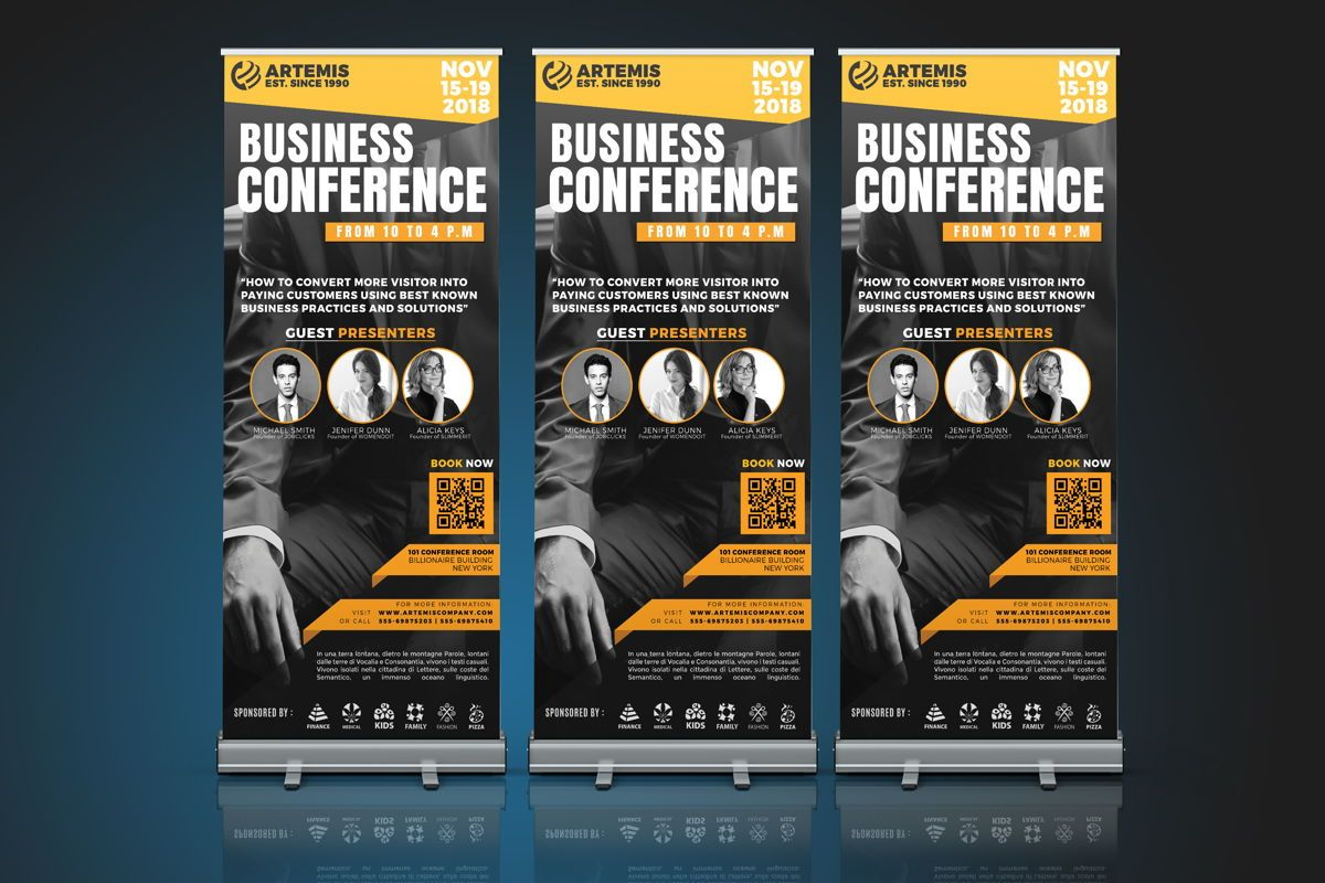 Business Conference Roll-Up Banner Template, Slide 4, 08650, Business — PoweredTemplate.com