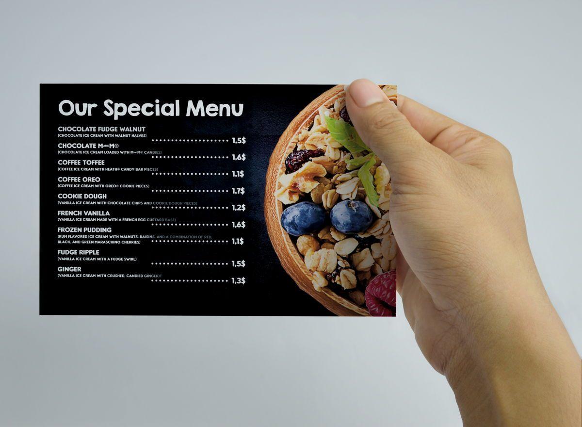 Chalk Styles Restaurant PostCard Template, Slide 2, 08652, Business — PoweredTemplate.com