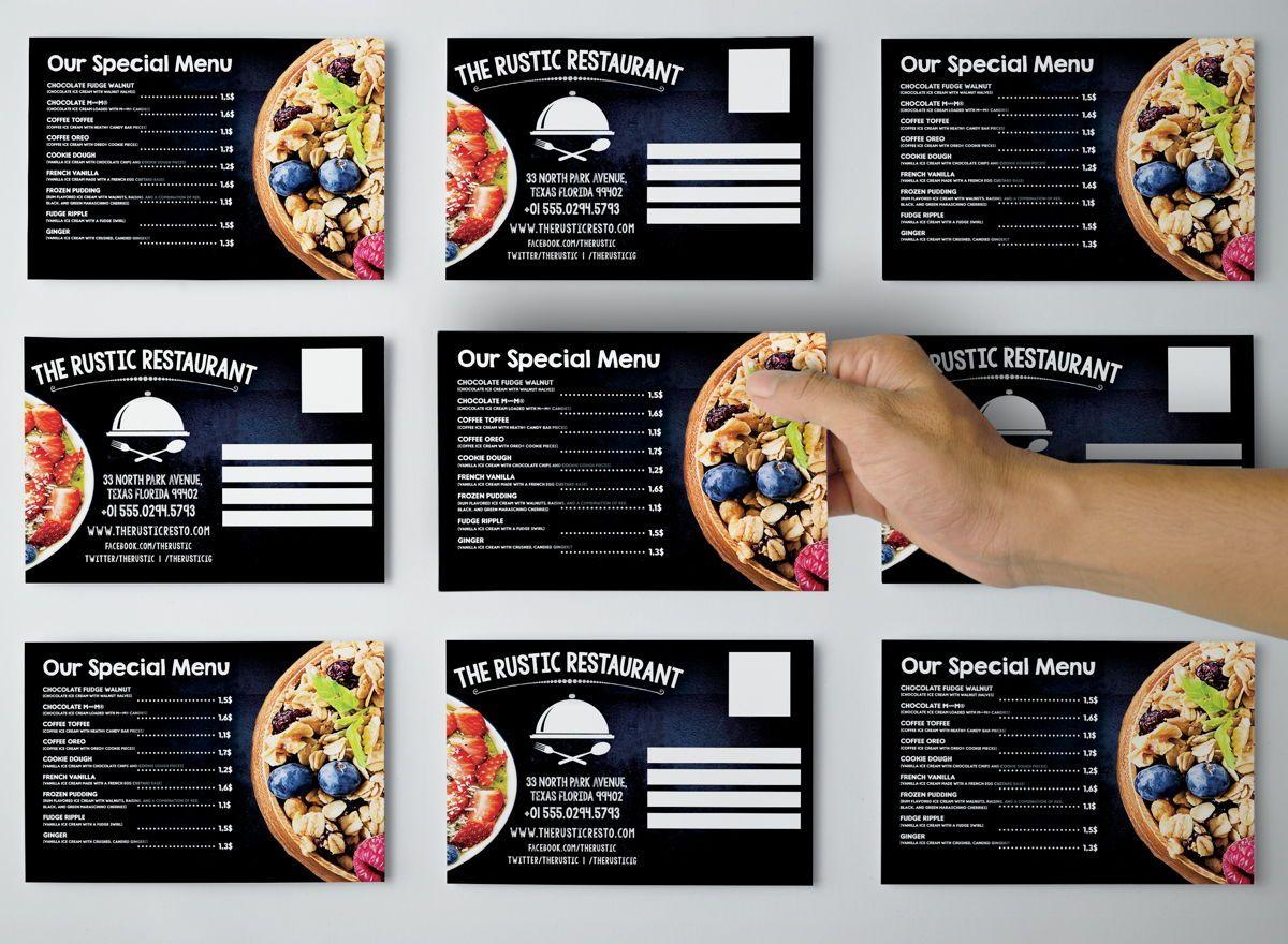 Chalk Styles Restaurant PostCard Template, Slide 3, 08652, Business — PoweredTemplate.com
