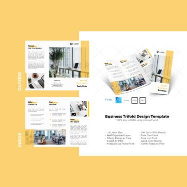 Business: Multipurpose modern trifold brochure design template #08655