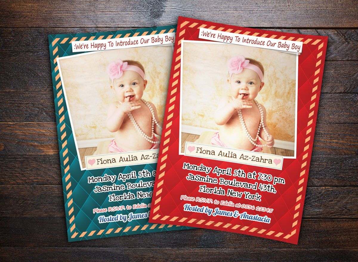 Baby Shower Invitation Template, 08656, Holiday/Special Occasion — PoweredTemplate.com