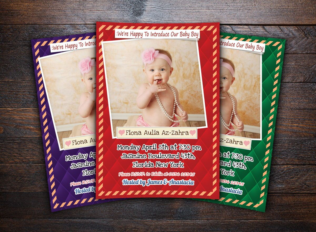 Baby Shower Invitation Template, Slide 2, 08656, Holiday/Special Occasion — PoweredTemplate.com