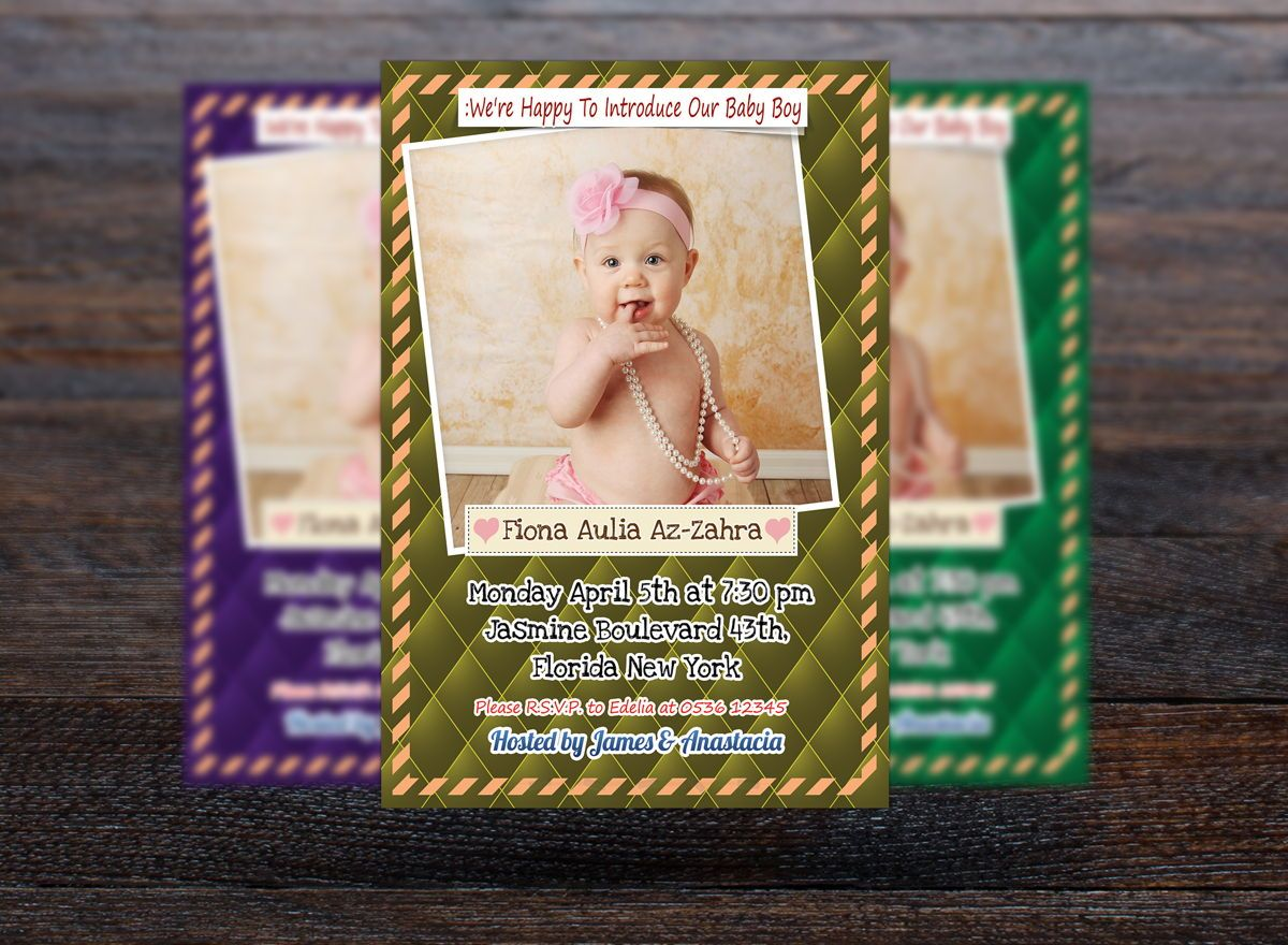 Baby Shower Invitation Template, Slide 3, 08656, Holiday/Special Occasion — PoweredTemplate.com