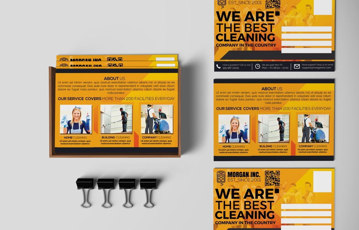 Cleaning Service Company Promotion PostCard, 08658, Business — PoweredTemplate.com