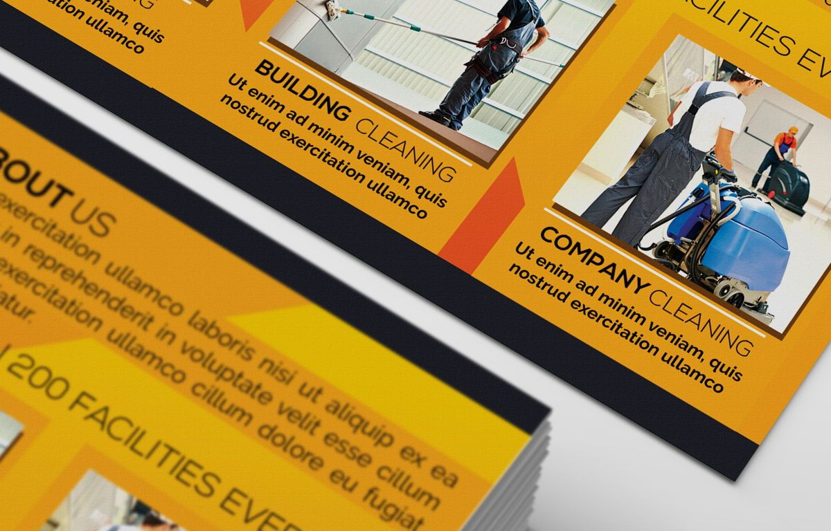 Cleaning Service Company Promotion PostCard, Slide 6, 08658, Business — PoweredTemplate.com