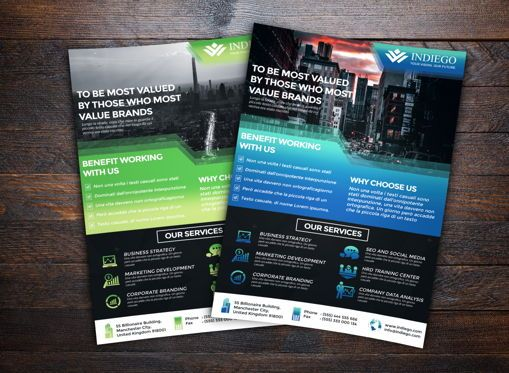 Business: Company Flyer Template #08659