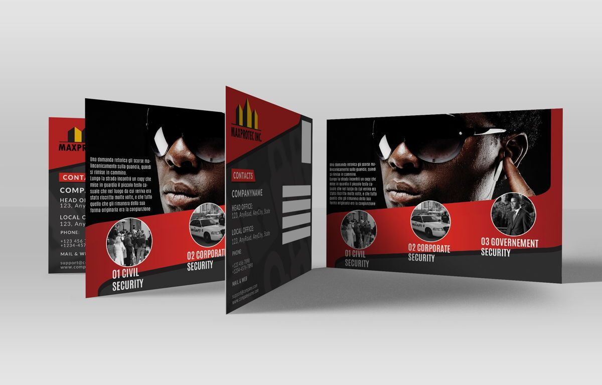 Security Company Promotion PostCard, Slide 2, 08660, Business — PoweredTemplate.com