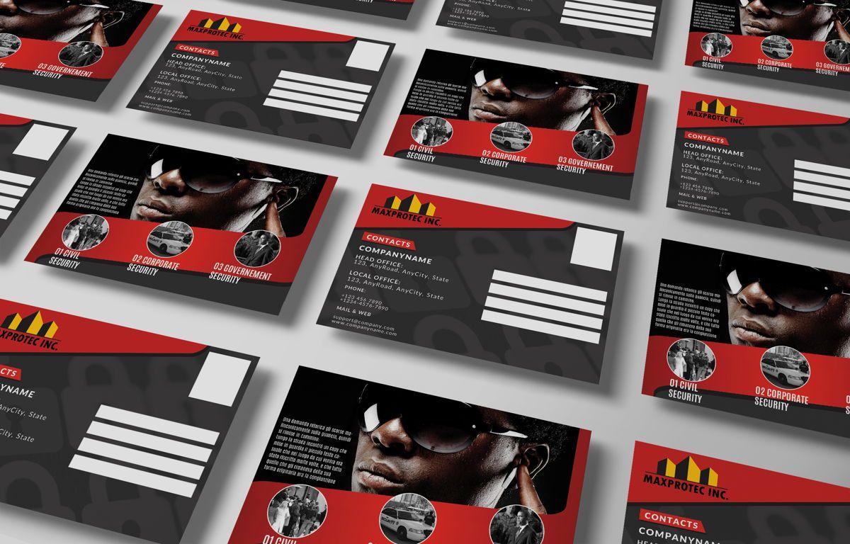 Security Company Promotion PostCard, Slide 3, 08660, Business — PoweredTemplate.com