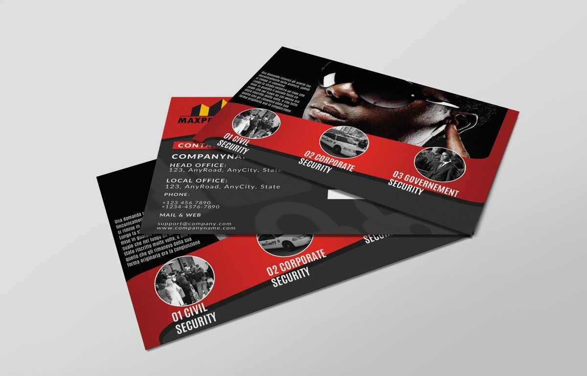 Security Company Promotion PostCard, Slide 4, 08660, Business — PoweredTemplate.com
