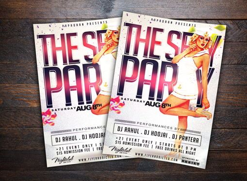 Art & Entertainment: Sexy Party Flyer Template #08661