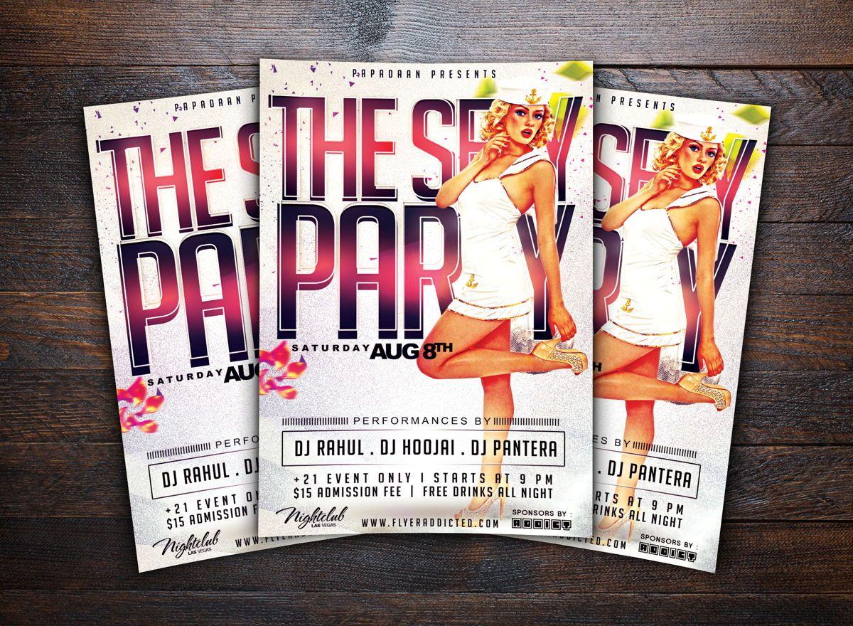 Sexy Party Flyer Template, Slide 2, 08661, Art & Entertainment — PoweredTemplate.com