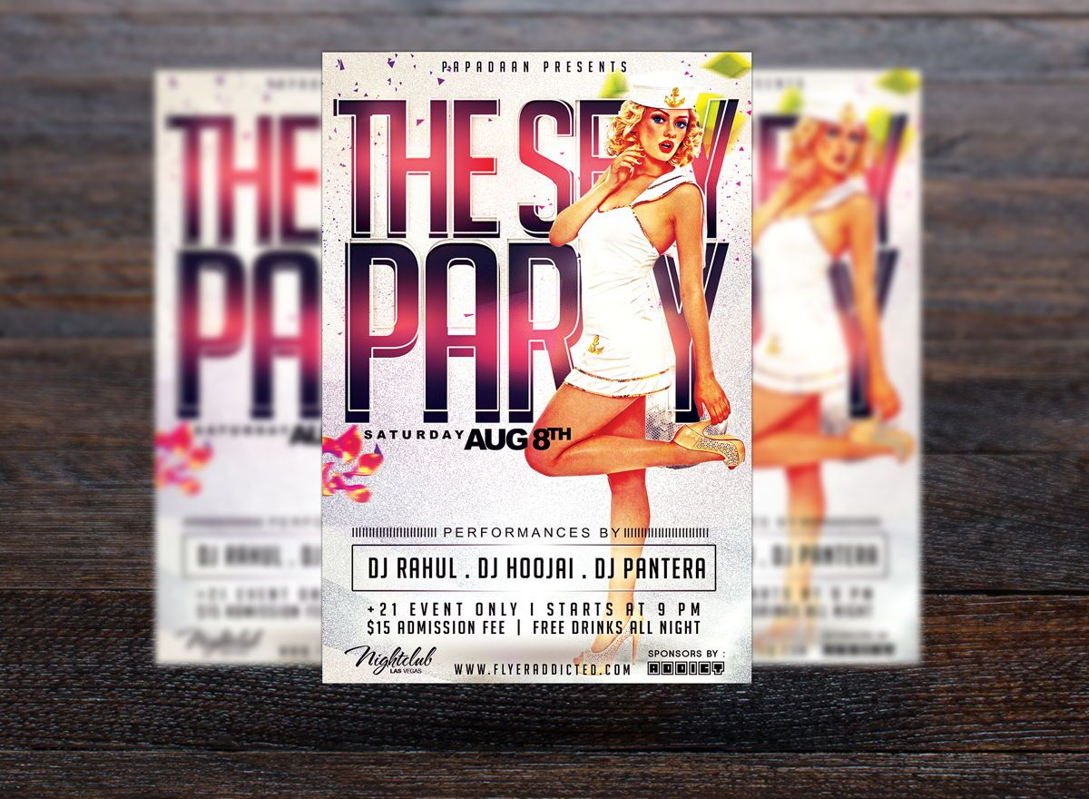 Sexy Party Flyer Template, Slide 3, 08661, Art & Entertainment — PoweredTemplate.com