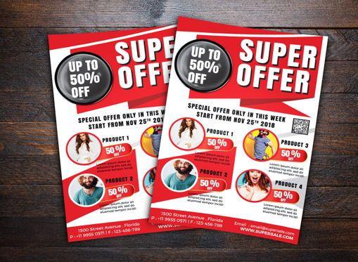 Business: Super Sale Flyer Template #08663