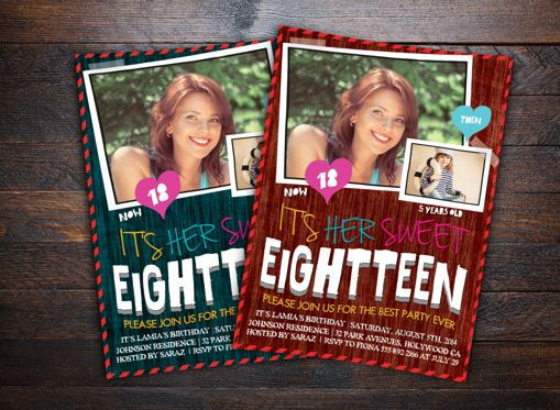 Holiday/Special Occasion: Teens Birthday Invitation Card #08664