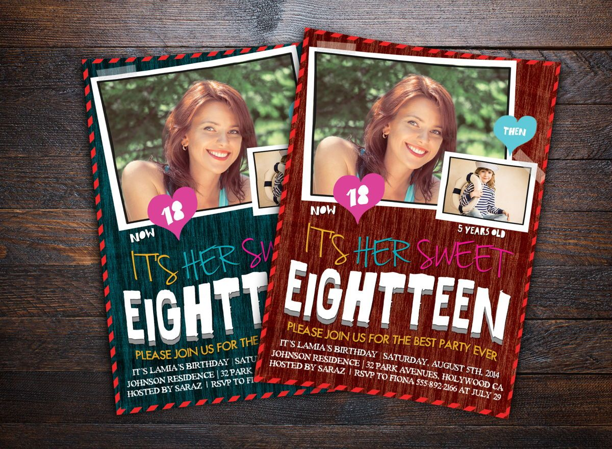 Teens Birthday Invitation Card, 08664, Holiday/Special Occasion — PoweredTemplate.com