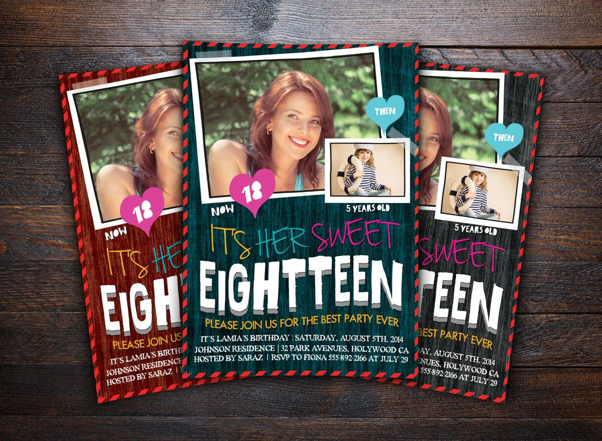 Teens Birthday Invitation Card, Slide 2, 08664, Holiday/Special Occasion — PoweredTemplate.com
