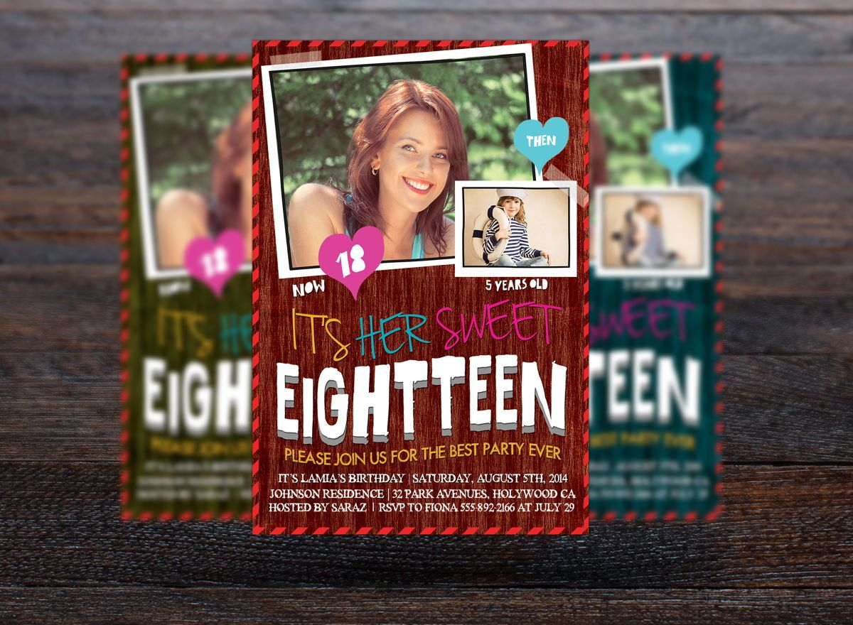 Teens Birthday Invitation Card, Slide 3, 08664, Holiday/Special Occasion — PoweredTemplate.com