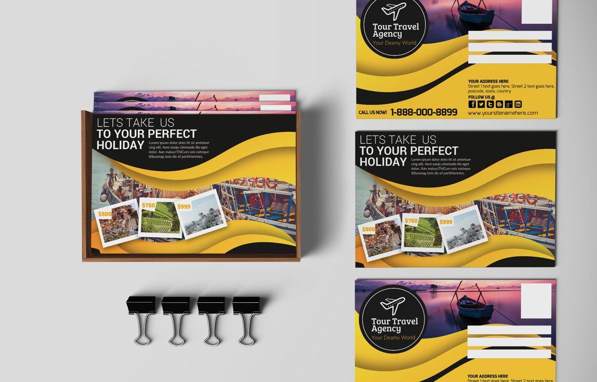 Travel Agency PostCard, 08666, Business — PoweredTemplate.com